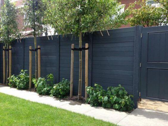 Matte Black Wall Fence