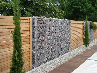 Modern Gabion Wall