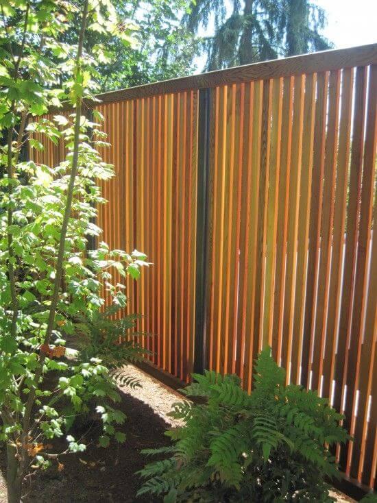 Vertical Timber Fence Garden Fence