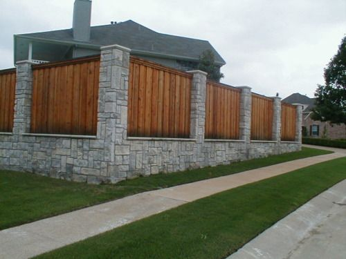 Wood Slats and Stone Walls