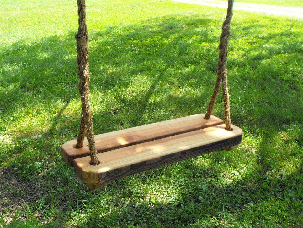 Double Wood Tree Swing