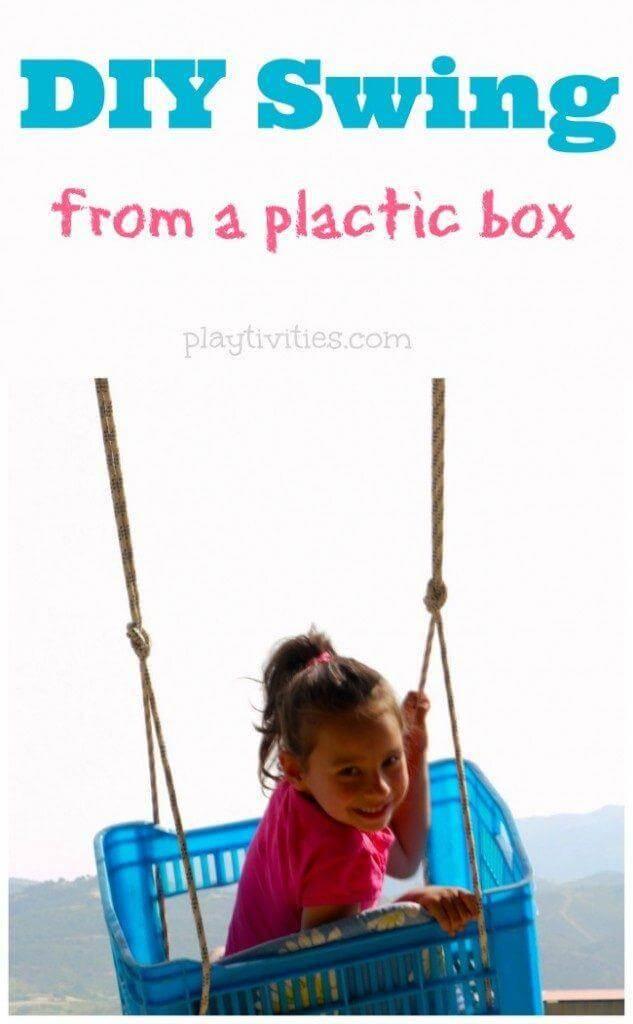 DIY Plastic Box Swing