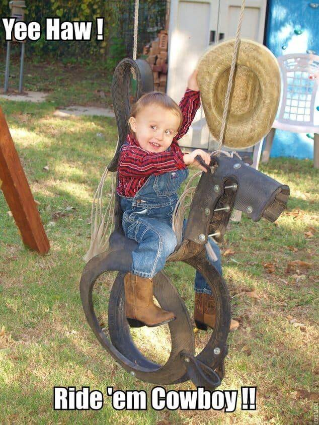 Horsey Backyard Swingset