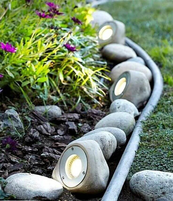Rock Garden with Music and Lighting System