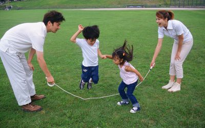 Skipping rope relay