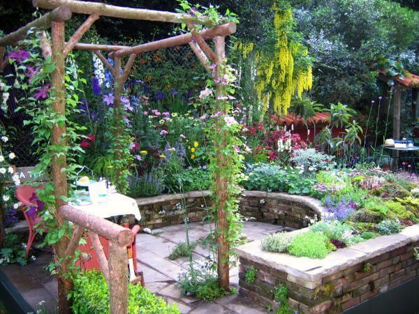 Winding Stone Walled Spice Nursery