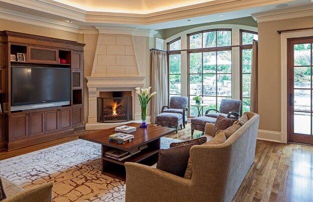 A Small Corner Fireplace
