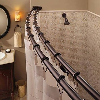Double Shower Curtain Rods