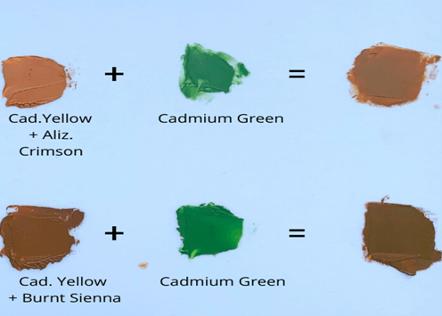 Mixing Some Greens with The Orange