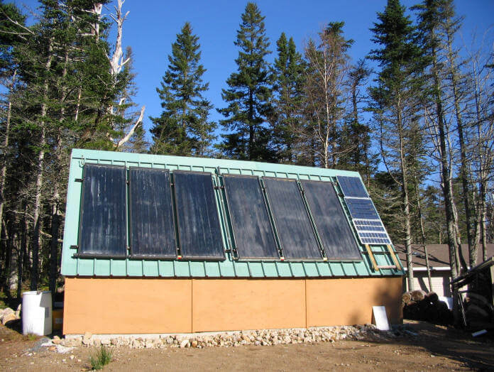 Solar Power (Solar Heater for Shed)