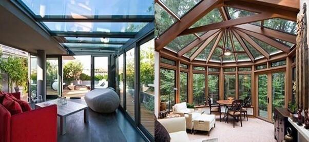 Solarium and sunroom