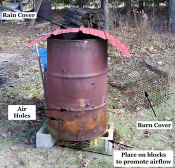 Take Care While Adding Extra Trash to The Burn Barrel