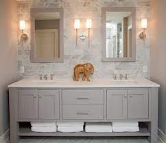 Backsplash height bathroom vanity