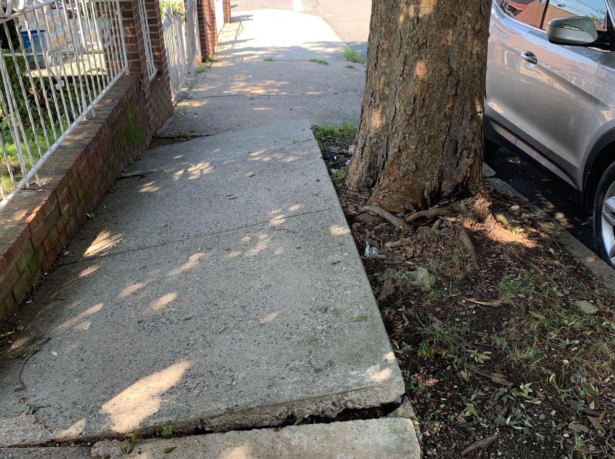 Elevation of Sidewalks