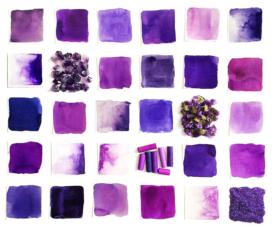 How to Mix Shades of Purple Color for Artist