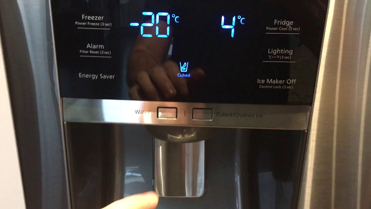 How to Reset the Control Panel of the Samsung Fridge