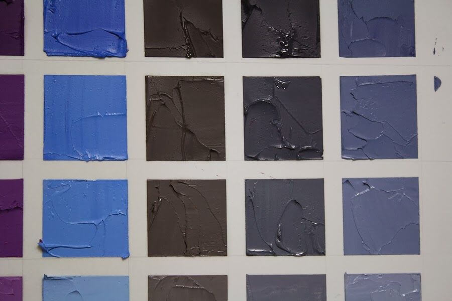 Mixing of Burnt Umber with Blue