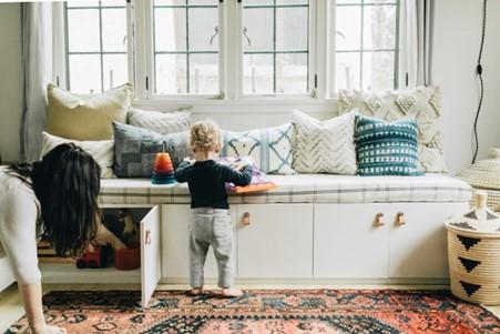 IKEA Besta Bench Hack with DIY Cushion