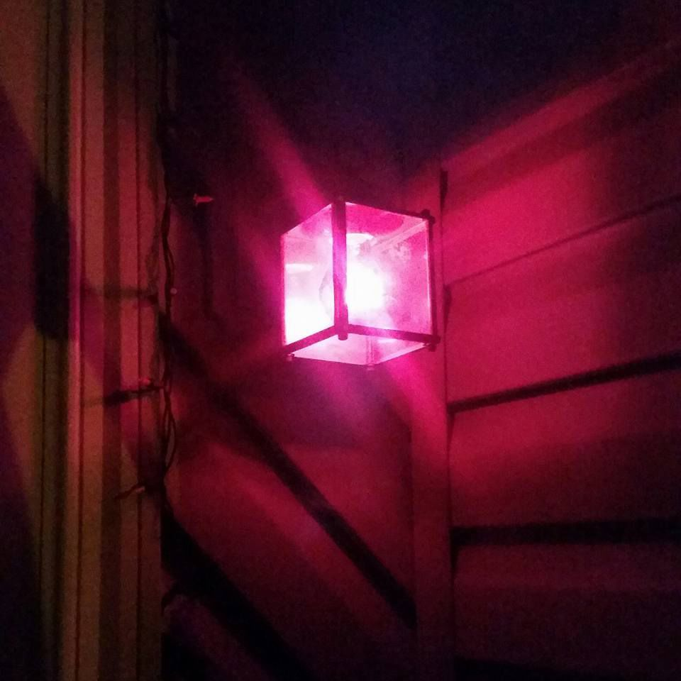 Pink Porch Lights