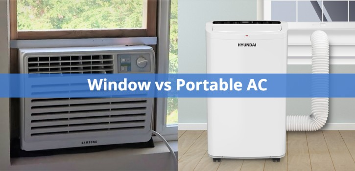 Portable Vs Window Air Conditioners Compared with Charts