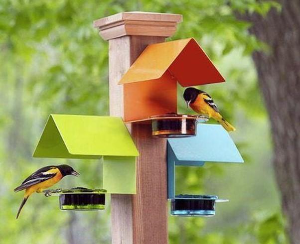 Post Mounted Bird House