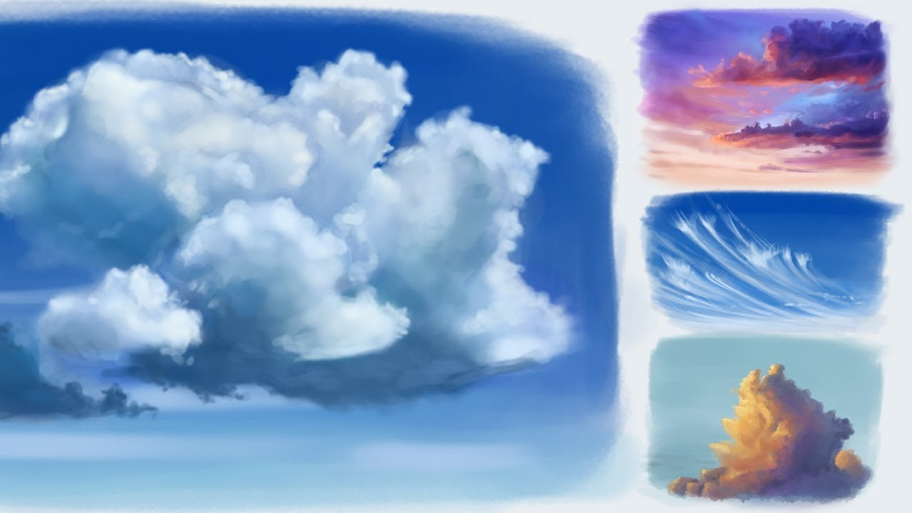 Step by Step Tutorial- Painting Clouds