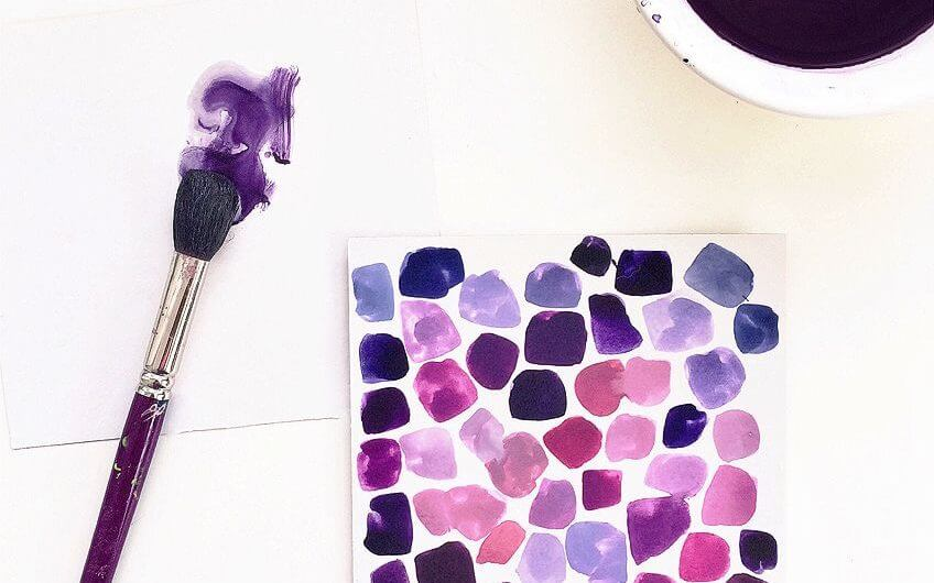 To Mix Muted Shades of Purple Color