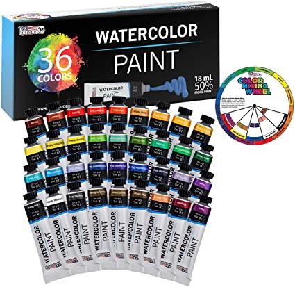 U.S. Art Supply Professional 24 Color Set of Watercolor Paint