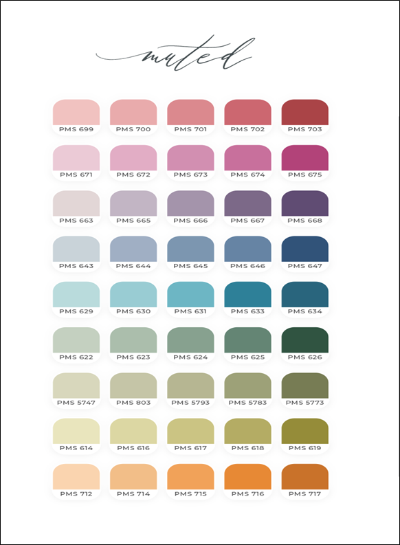 Uses of Muted Colors