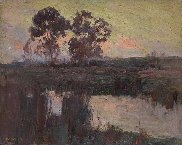 depicts the amazing use of muted colors to portray calm and stillness