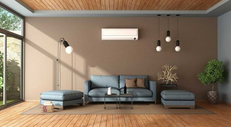 Living Rooms with Brown Walls