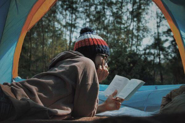 Reading and Creating while Camping