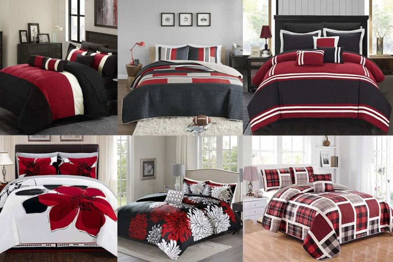 Stunning Red, Black and White Bedding Sets